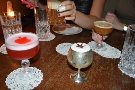 Eau de Vie cocktails: the Newtonian, the whiskey something, the ginger something and the Game of Thrones something?