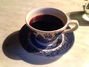 And, later that same day, another teacup. This time, with mulled wine at Moat.